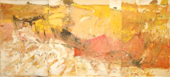 """Dry Land Gully""  2006  archival oil on polyester canvas  183 x 417 cm. Collection of Jacqui and James Erskine."