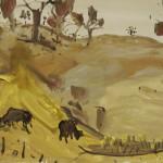 """""""Larramie"""" 2000 gouache on archival paper 55 x 75 cm."""