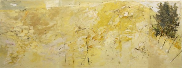 """Leaving the Trees""  2008  archival oil on polyester canvas  180.5 x 481.5 cm."