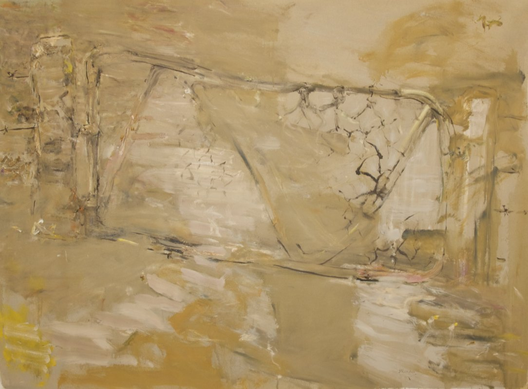 'Shadows and Gate' 2008  archival oil on polyester canvas  133 x 181.2cm