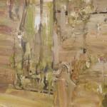 """Tantulean Gate""  2008  archival oil on paper  55 x 150 cm."