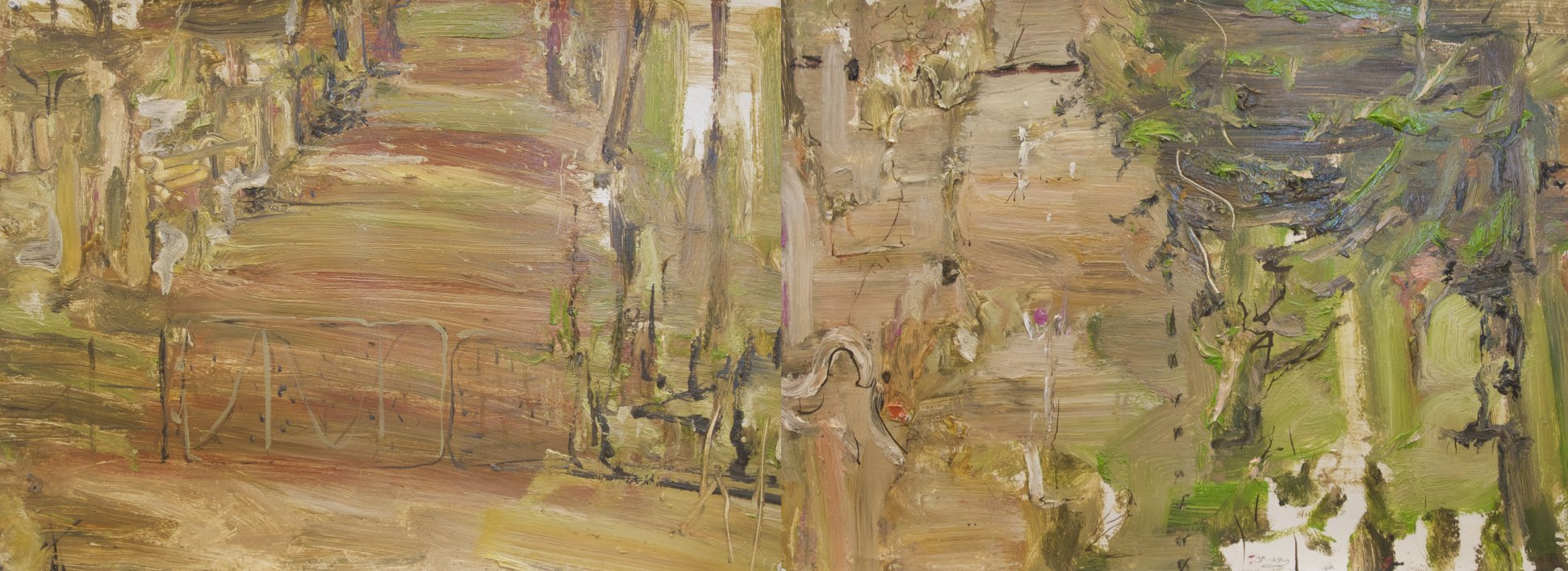 'Tantulean Gate' 2008  archival oil on paper  55 x 150 cm