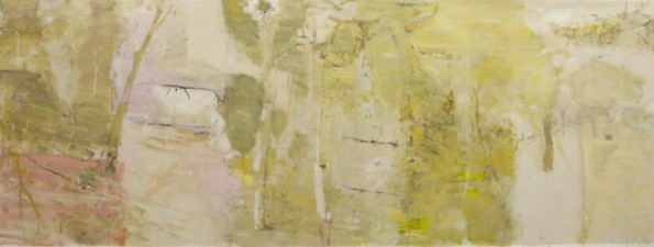 """A Road, a Gate and a Forest""  2008  archival oil on polyester canvas  180 x 484 cm. Art Gallery of New South Wales Collection."