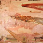 """Bedervale Gullys March""  2004  archival oil on polyester canvas  155 x 188 cm."
