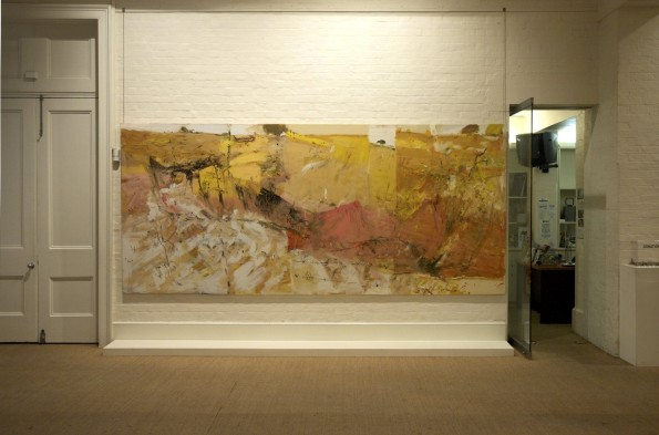 "Installation view: ""Dry Land Gully"" 2006 in John R Walker's survey exhibition, Journey through Landscape, at the S H Ervin Gallery in Sydney in 2008."