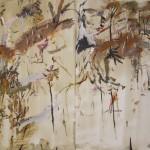 """Forest""  2003  gouache on archival paper  75 x 110 cm."