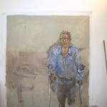 """Portrait of Martin Armiger""  2006  archival oil on polyester canvas  218 x 191.2cm. 2006 Archibald Prize finalist AGNSW."