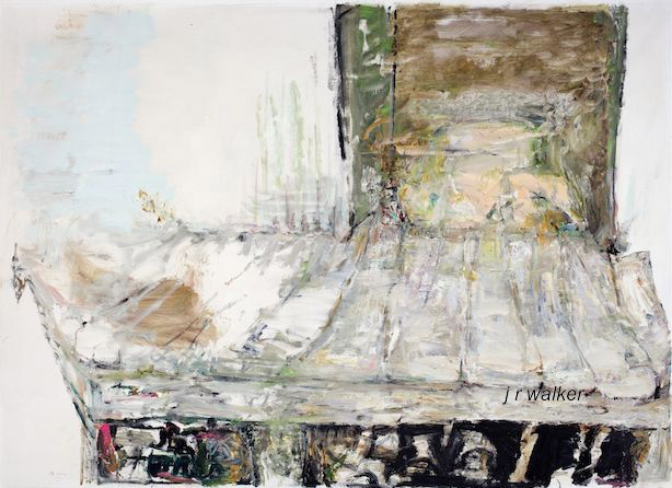 'Ramp' 2010 archival oil on polyester canvas 181.5 x 254 cm