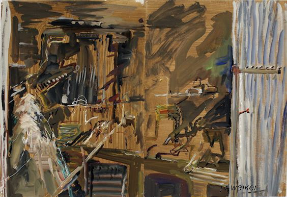 'Shed Interior' 2010 gouache on archival paper 75 x 110 cm