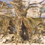 """Hollow Tree"" 2001 archival oil on polyester canvas 180 x 208 cm. Orange Regional Gallery Collection."