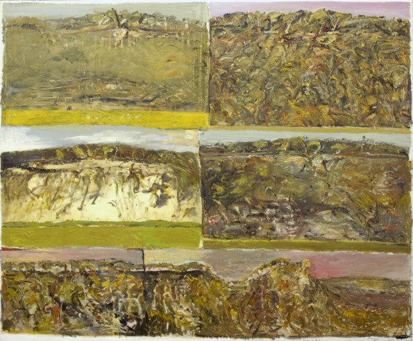 """""""Six Days in Bundanon and I Give Thanks to Boyd""""  2001  archival oil on polyester canvas  180 x 210 cm."""