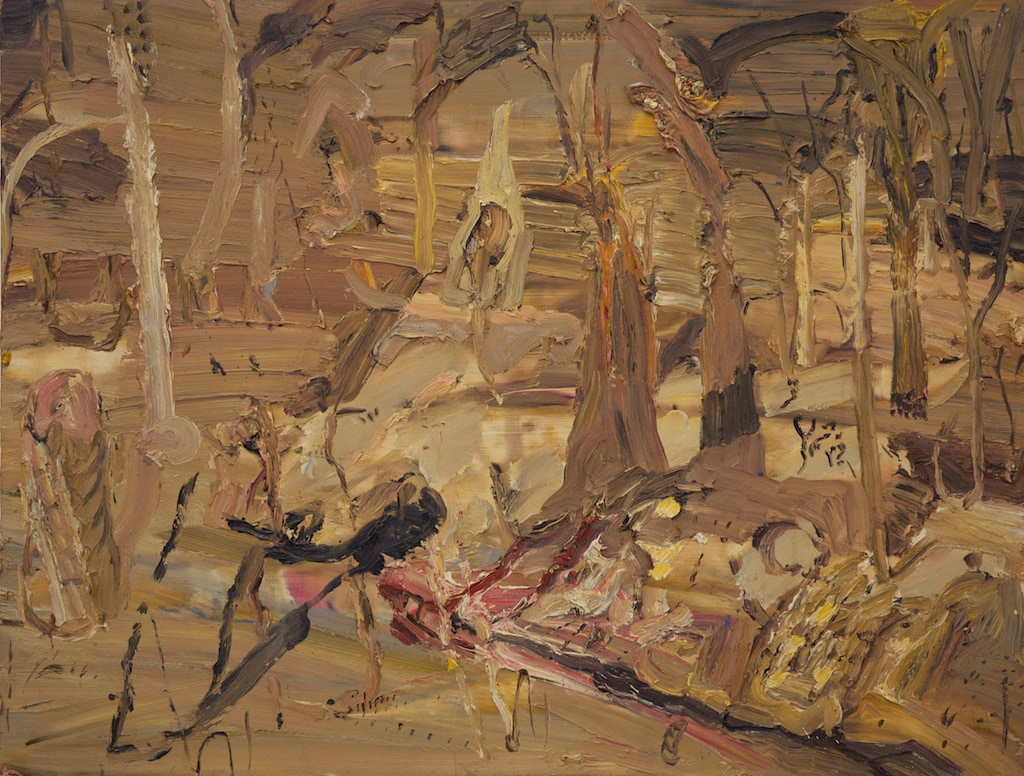 'Winter in the Fire Forest' 2005 archival oil on board 60 x 80 cm. Private Collection