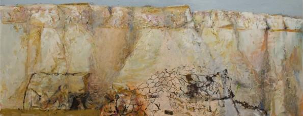 """""""Crust"""" 2011-12  oil on polyester canvas 490cmX180cm"""