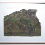 """'Pulpit Rock"""" 2001 gouache on archival paper 55 x75 cm."""