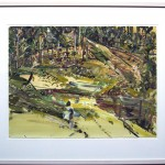 """Bundanon Road"" 2001 gouache on archival paper 55 x 75 cm."
