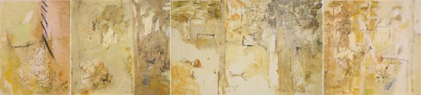 """site"" 2011 oil on polyester canvas 177x776"