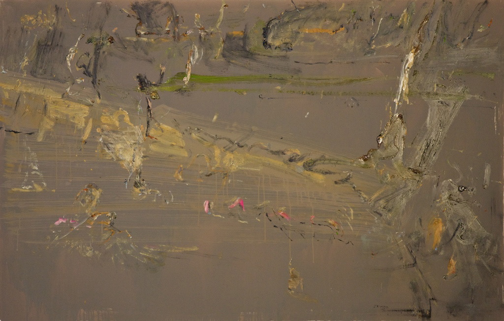 'Winter in the Fire Forest 7' 2012 archival oil on polyester canvas