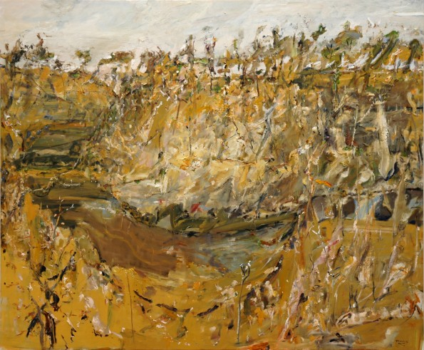 'The River at Bombay'  2006  archival oil on polyester canvas  190.2 x 229 cm. Private Collection Singapore.