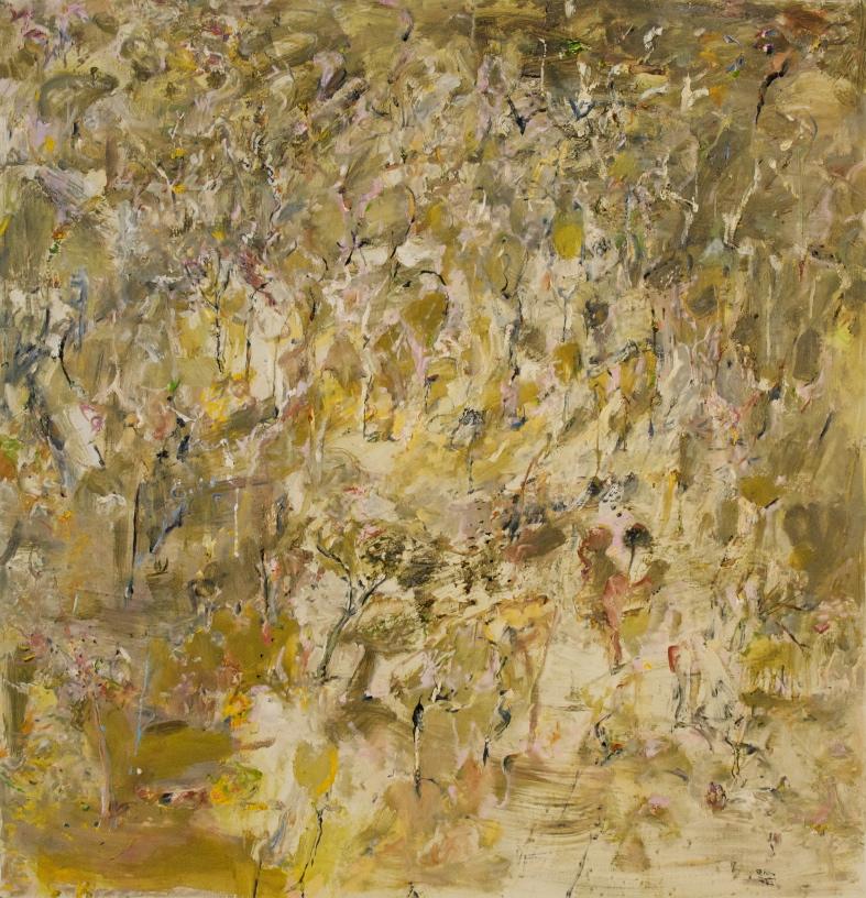'Black Wattle Ridge' 2011 archival oil on polyester 185 x 179 cm