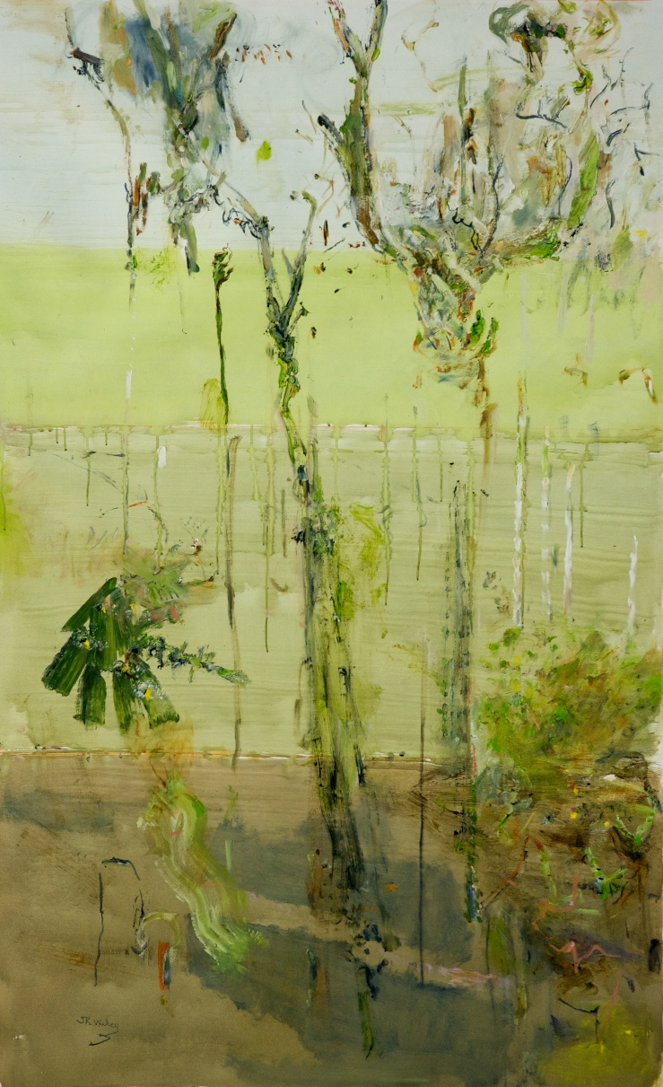 'Epiphyte Forest' 2012 archival oil on polyester 114 x 187 cm