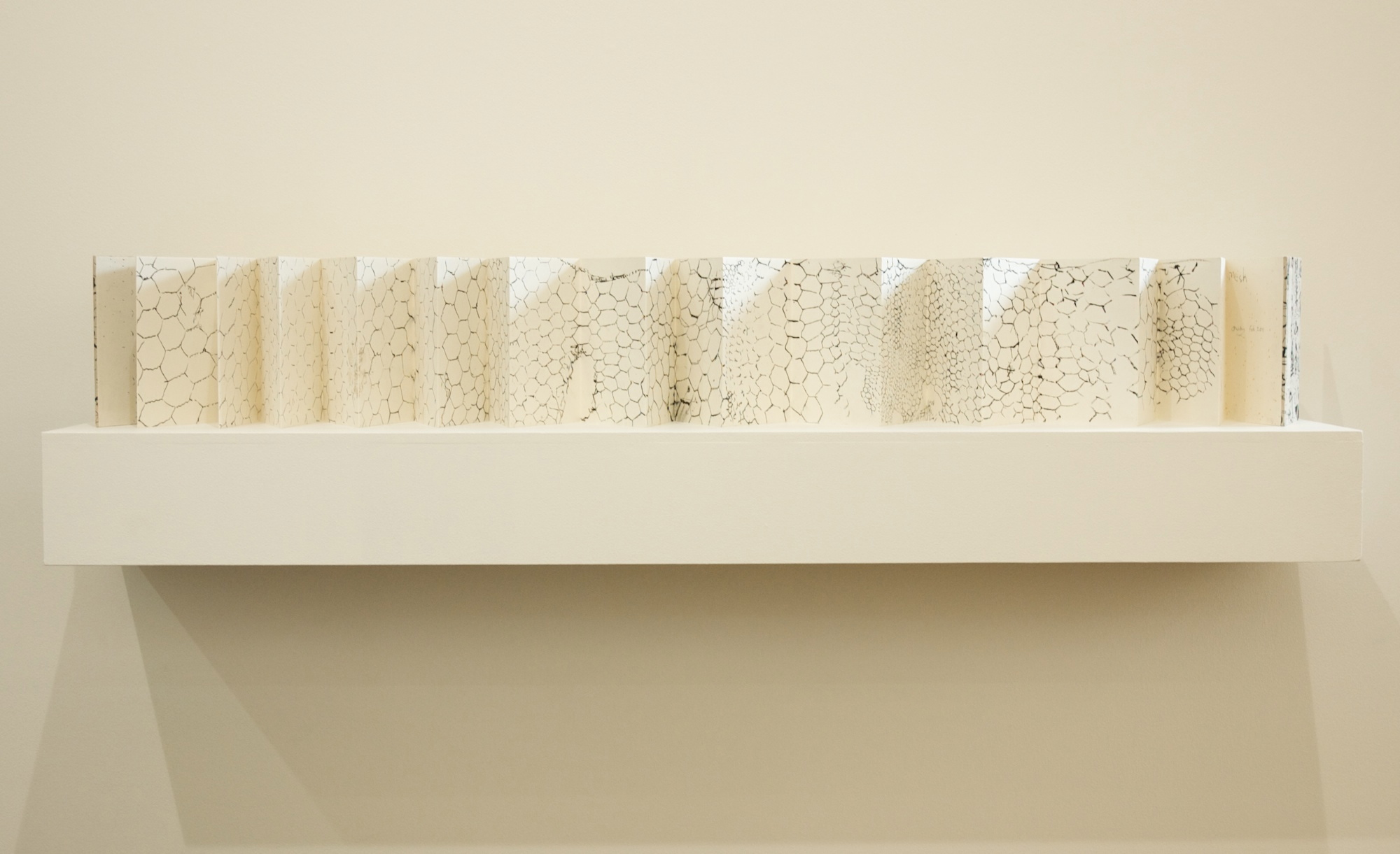 'Mesh' 2011 concertina artist book (gouache on paper) 20.5 x 337 cm