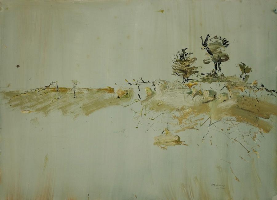 'Three Trees Bedervale' 2011 gouache on paper 56 x 76 cm