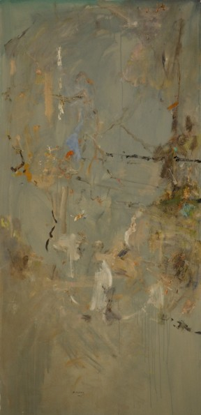 'Winter in the Fire Forest 4' 2012 archival oil on polyester180 x 88 cm