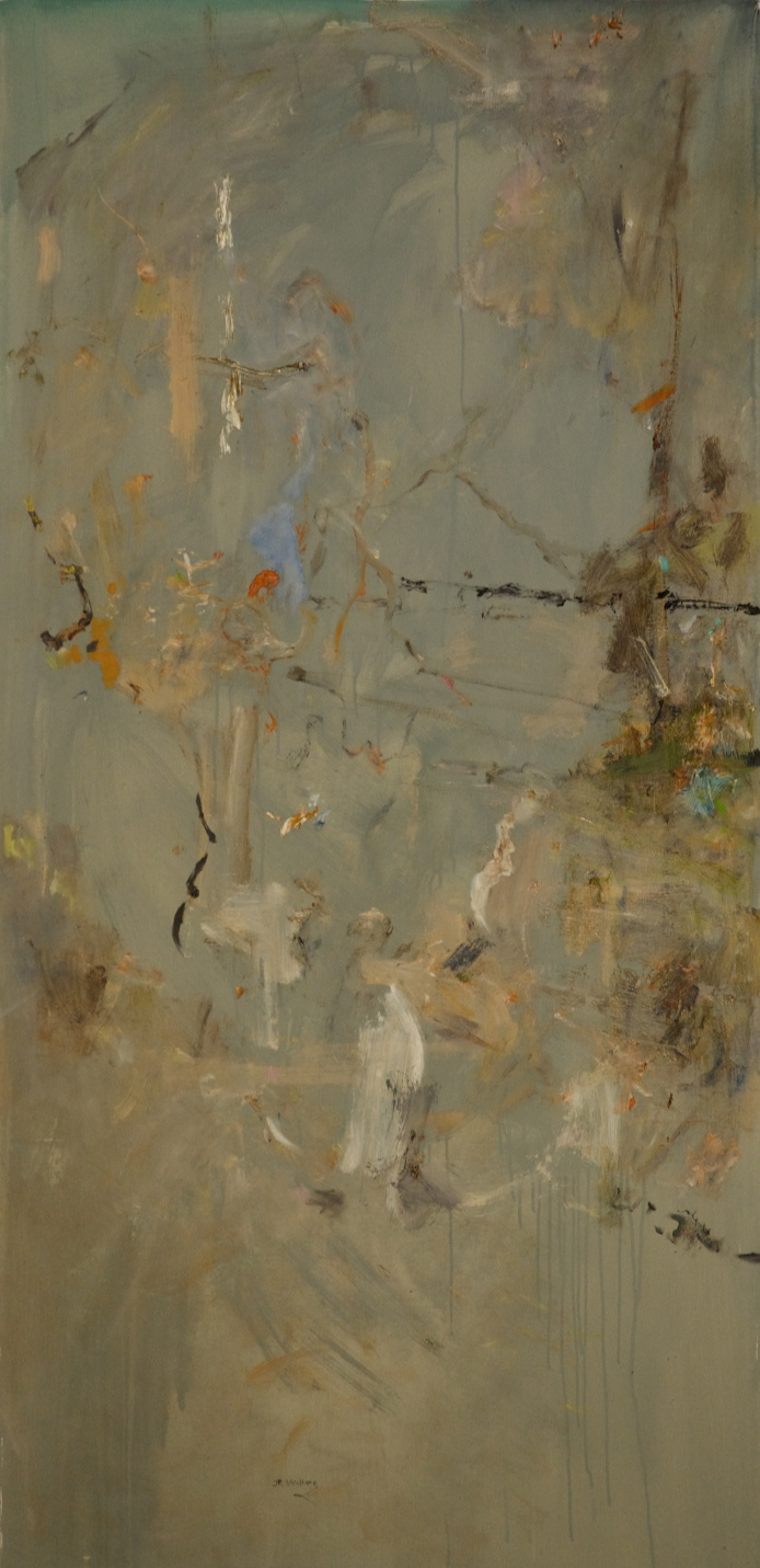 'Winter in the Fire Forest 4'  archival oil on polyester 180 x 88 cm