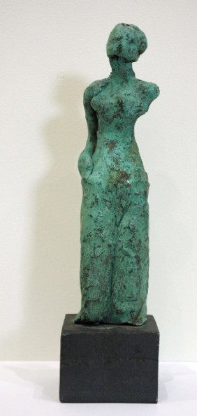 One armed woman 2001, patinated bronze