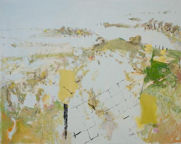 John R Walker, Doughboy Hill 2013, archival oil on polyester canvas, 173.5 x 217cm.