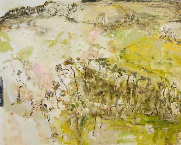 John R Walker, The Badja 2014, archival oil on polyester canvas, 171 x 214cm.