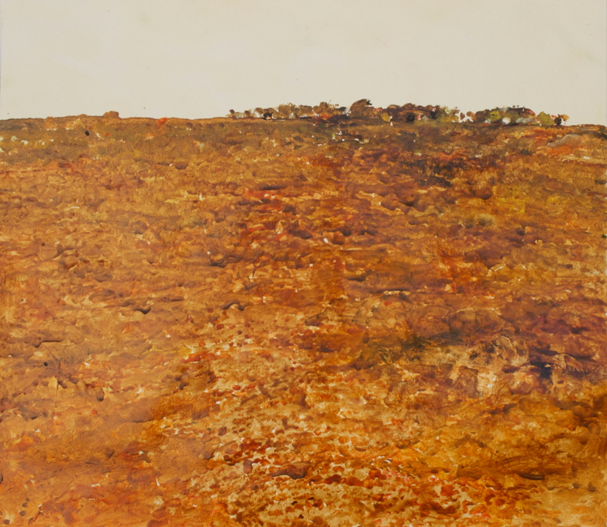 'Hay Plains VII' 2017 archival oil on polyester, 109 x 75 cm