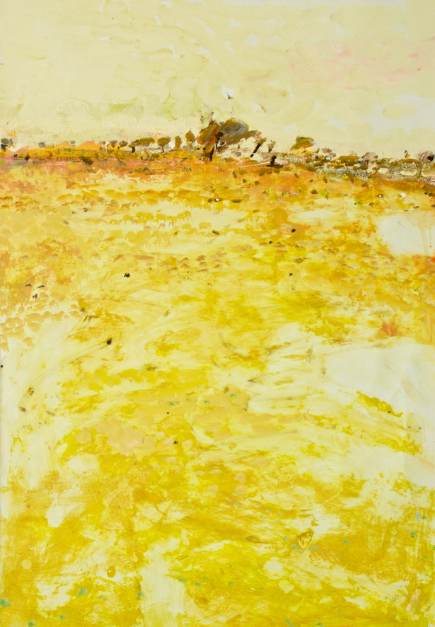 'East of Burra' 2017 archival oil on polyester,75 x 85.5cm