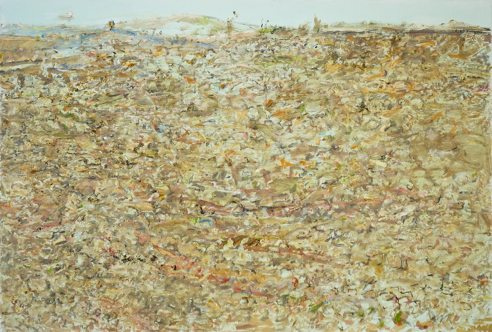 'Hay Plains VIII' 2017 archival oil on polyester, 110 x 75cm