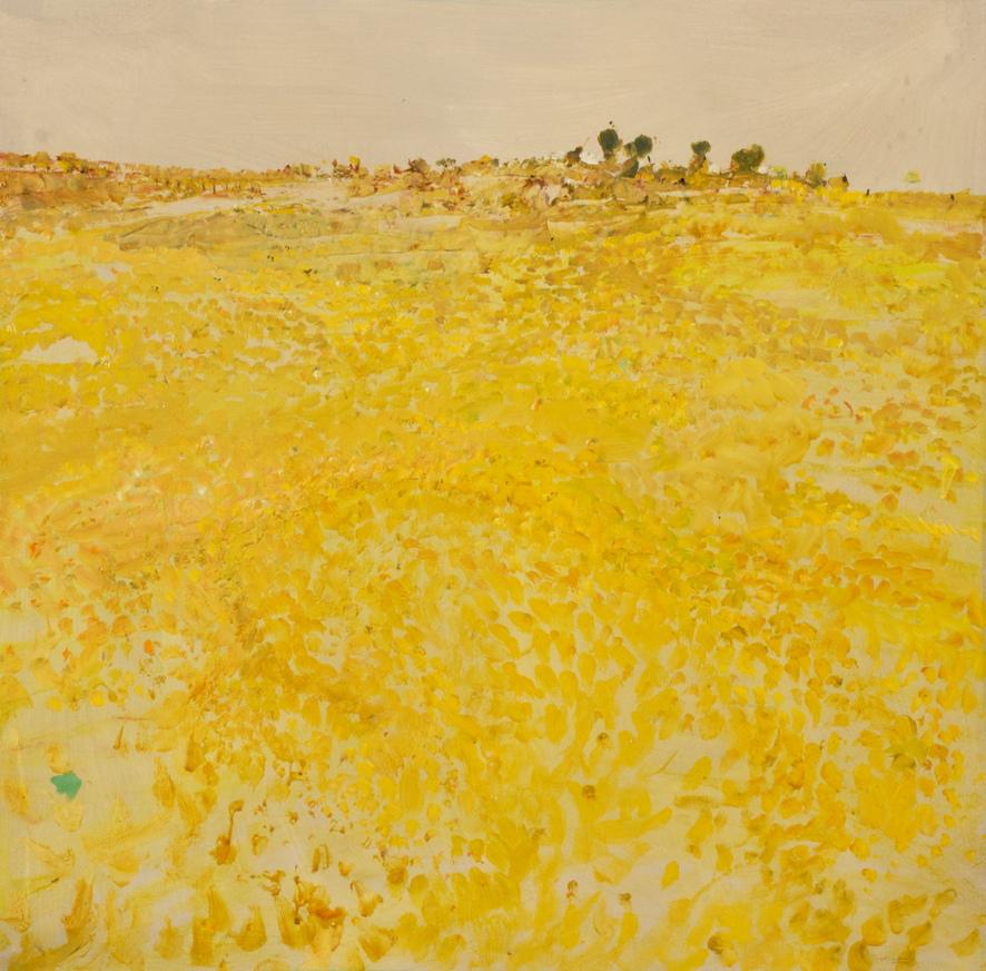 'Stony Plain' 2017 archival oil on polyester,76 x 55cm